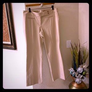 Loft Marisa Boot Cut petite beige pants size 12